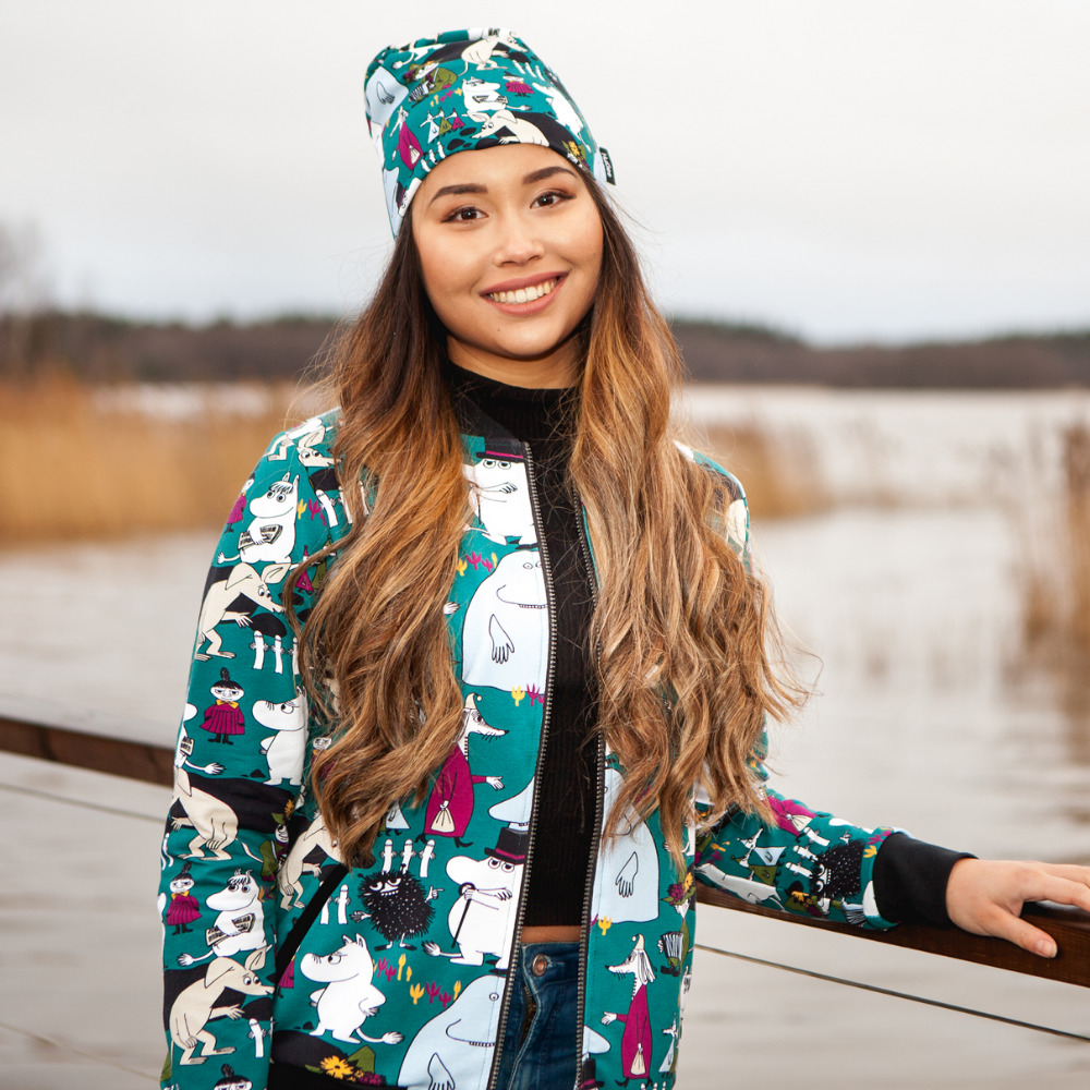 Muumi naisten bomber takki, Muumi Ilo Huigee Organics Oy